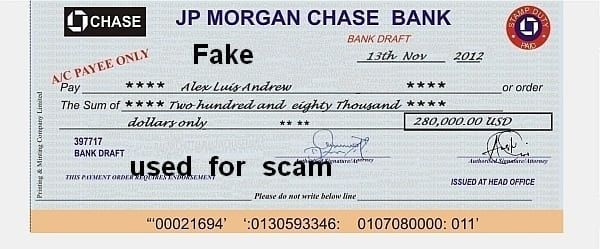 JP Chase Morgan Bank 280.000$ Alex Luis Andrew