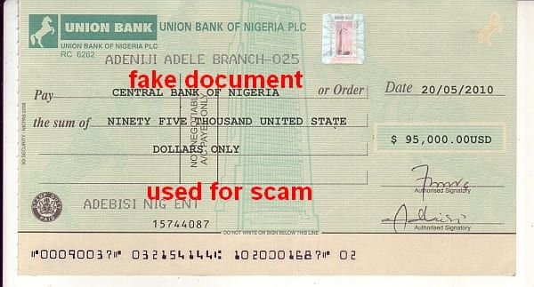 Union Bank NG CBN 95.000$