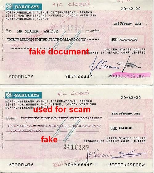 saheed ashour account cheques