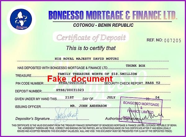 Majesty David Moturi,family treasure,Bongesso Mortgage+Finance LTD